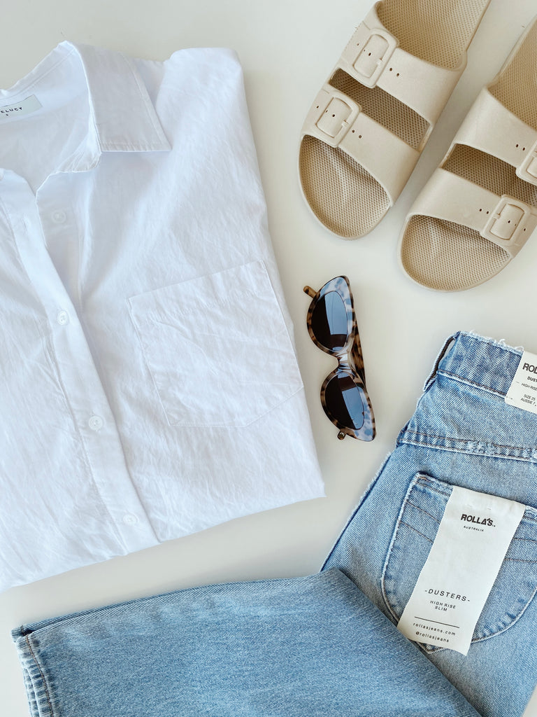 4 WAYS TO STYLE A WHITE SHIRT