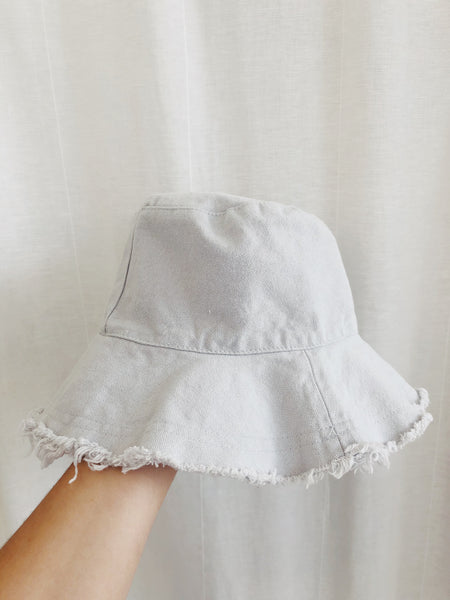 Linen Bucket Hat - Sky Blue