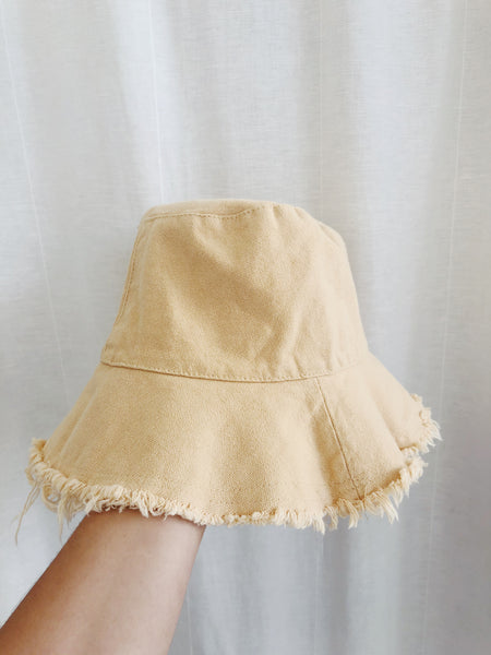 Linen Bucket Hat - Banana