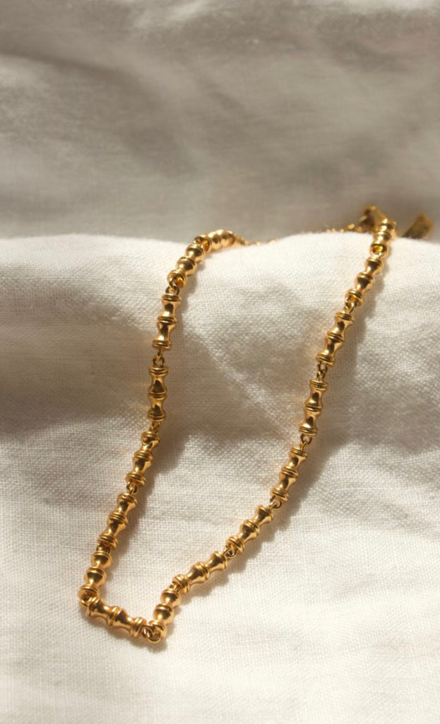 Mini Bambu Necklace - Gold