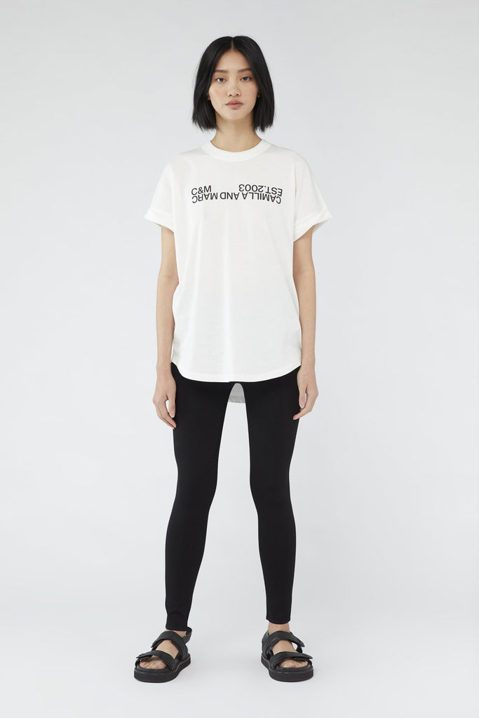 Huntington 2.0 Tee - White w Black