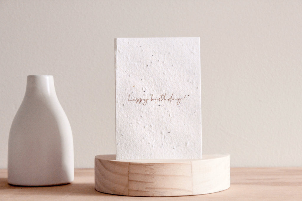 Minimal Birthday Blooming Card