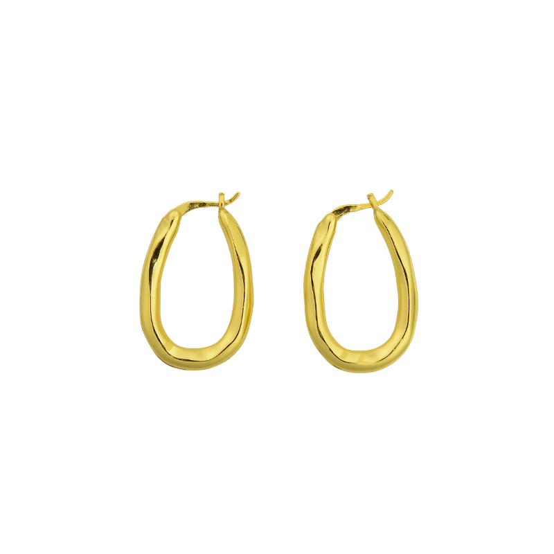 Organica Bent Hoops - Gold