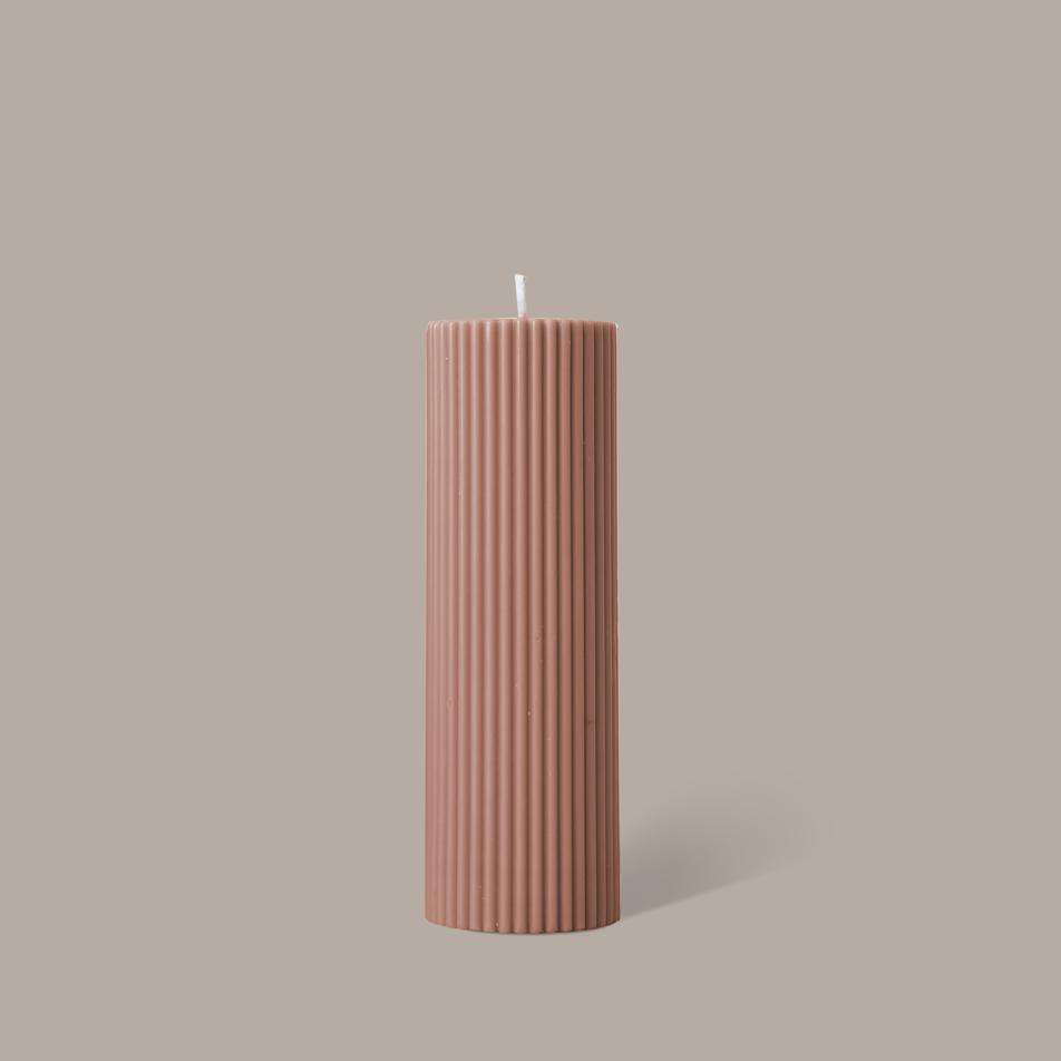 Wide Column Pillar Candle - Peach (Click and Collect Only)