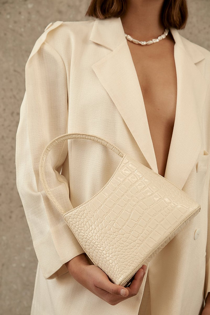 The Chloe Bag - Bone Oily Croc