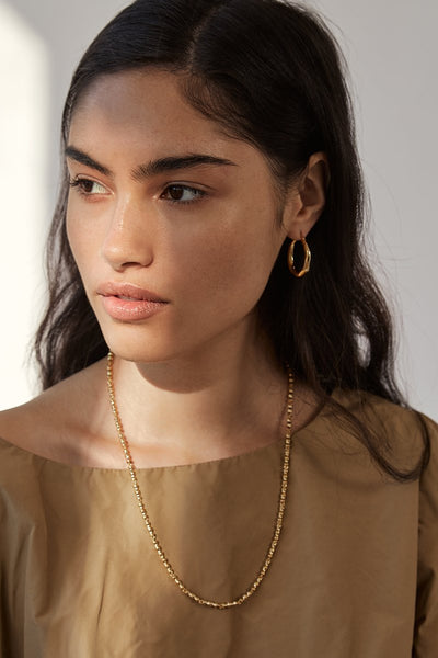 Organica Hoop Earrings Small - Gold