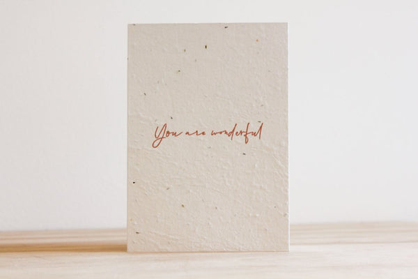 You Are Wonderful Card