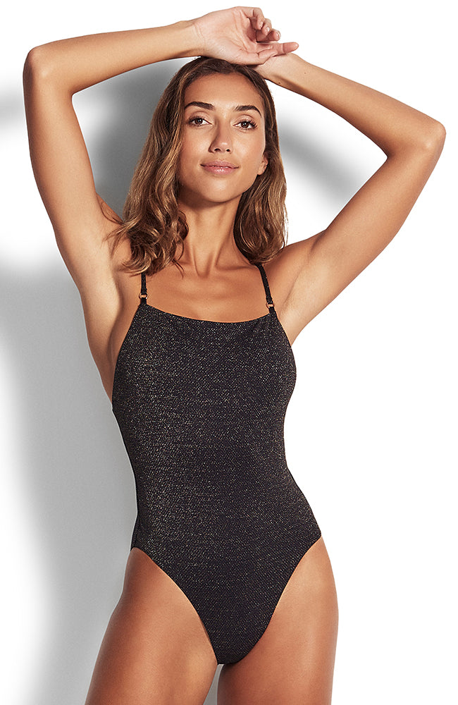 Seafolly Stardust Square Neck Maillot