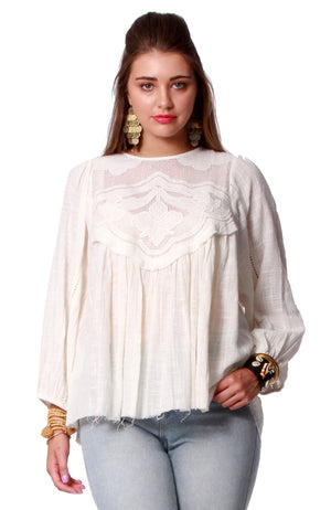 Honeysuckle Beach Cotton Khadi Blouse