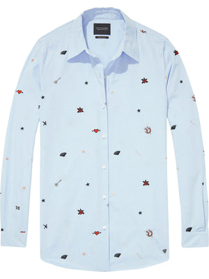 Scotch & Soda Long Sleeve Button Up Shirt