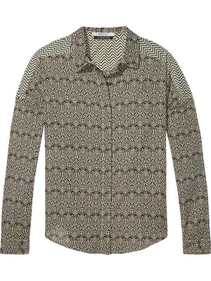 Scotch & Soda Cotton Viscose Boyfriend Shirt