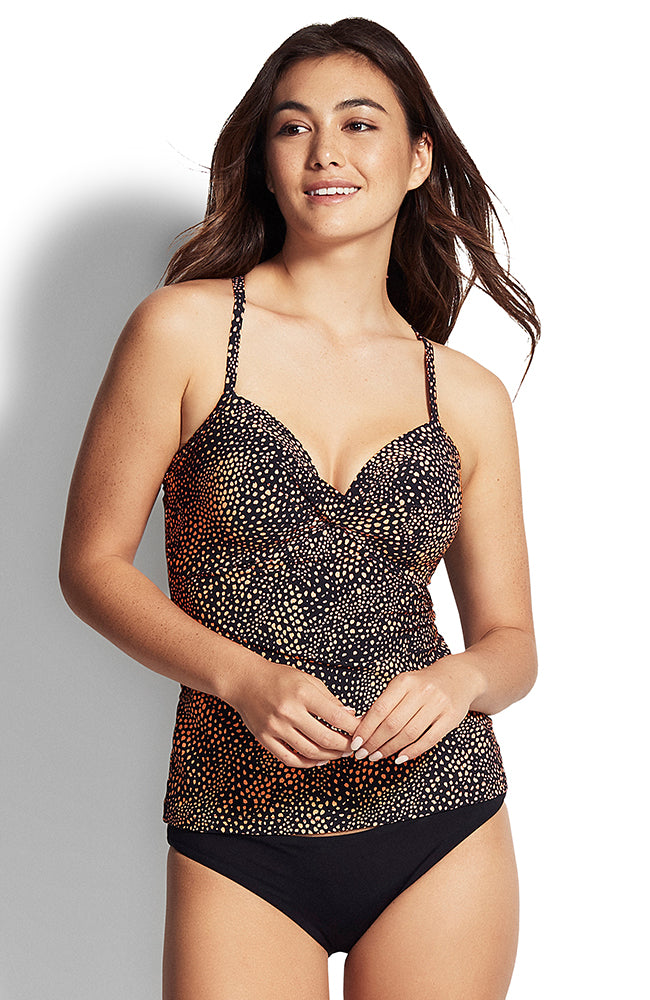 Seafolly Safari Spot DD Twist Front Singlet