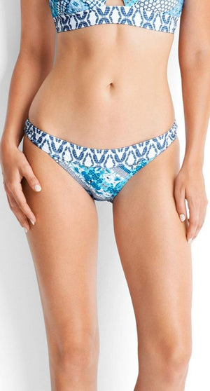 Seafolly Blue Bazaar Banded Hipster