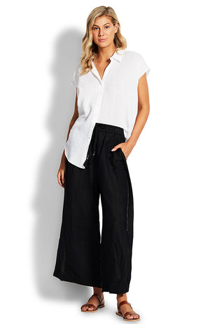 Seafolly Beach Edit Weekender Linen Pant
