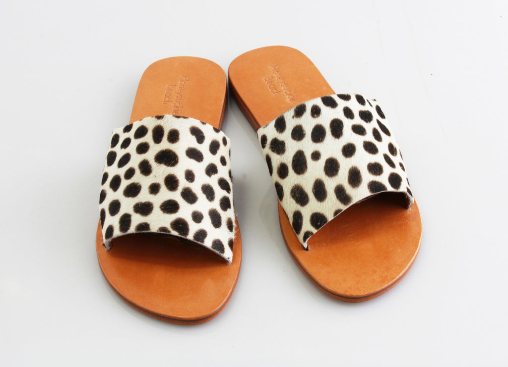 Honeysuckle Beach Slide Cow Hide - Cheetah
