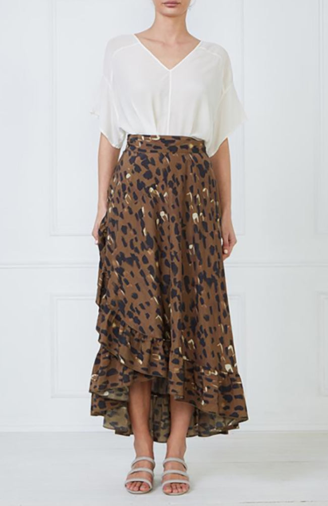 Mesop Impression Print Wrap Skirt