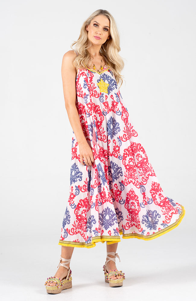 Naudic Astrid Maxi Ikat Dress