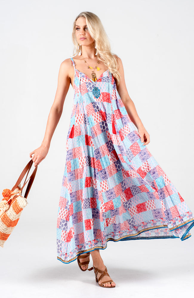 Naudic Astrid Maxi Rainbow Dress