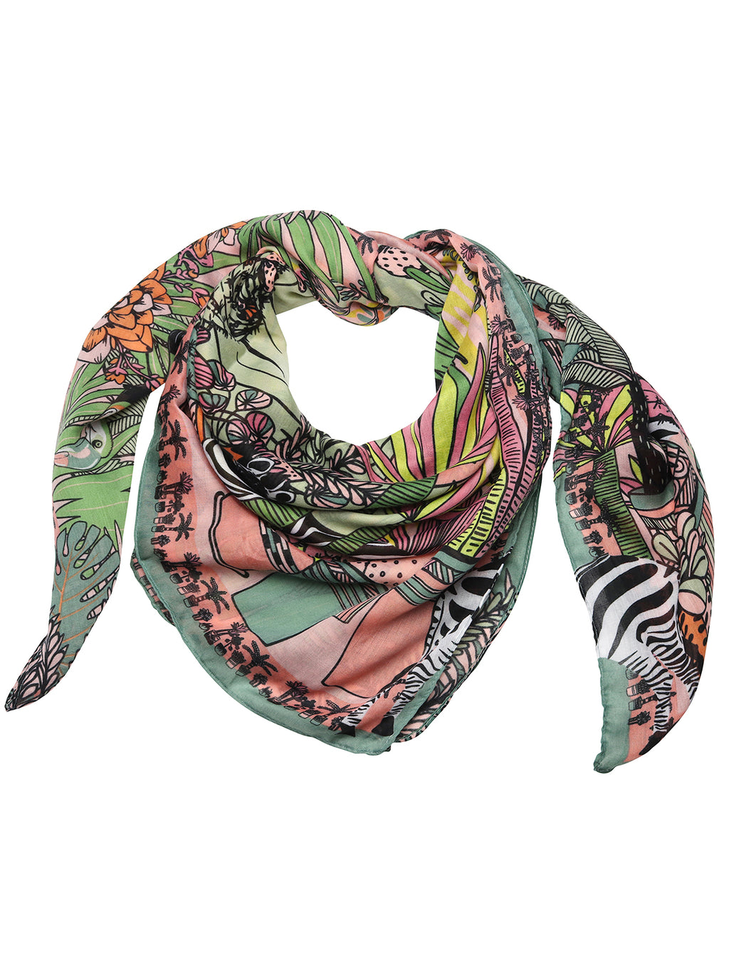 Tiger Tree Jungle Print Scarf