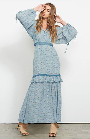 Stevie May Mystic LS Billow Maxi Dress