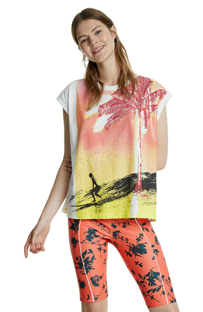 Desigual Spray Palm T-Shirt