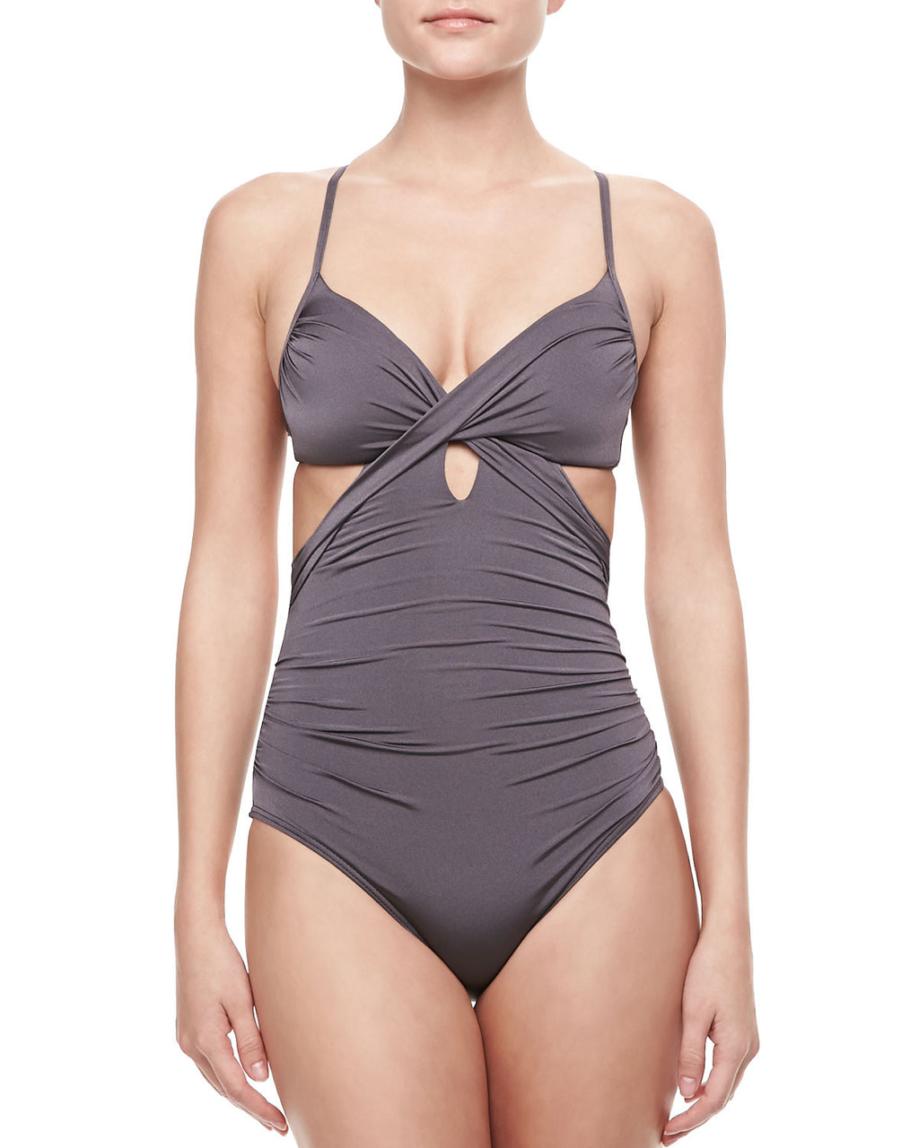 Jets Twist Underwire One Piece Quartz
