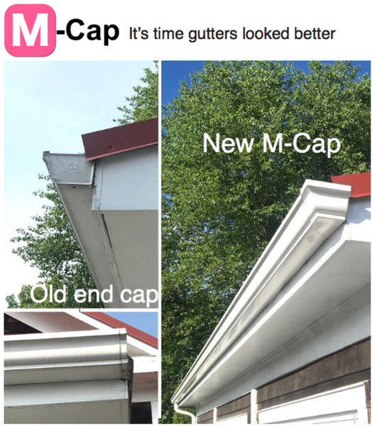 New Gutter End Caps that make Rain gutters look amazing
