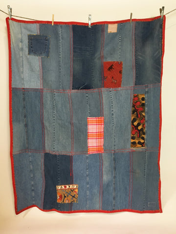 Upcycled Blankets - Denim Picnic Blanket # 6