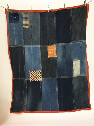 Upcycled Blankets - Denim Picnic Blanket # 7
