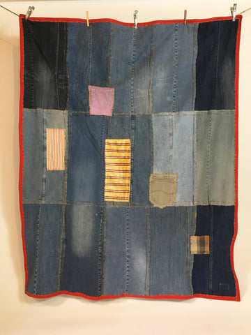Upcycled Blankets - Denim Picnic Blanket # 9