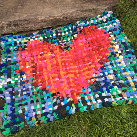 Potholder Rug - Heart of Hearts - 2.5 x 3.5 ft