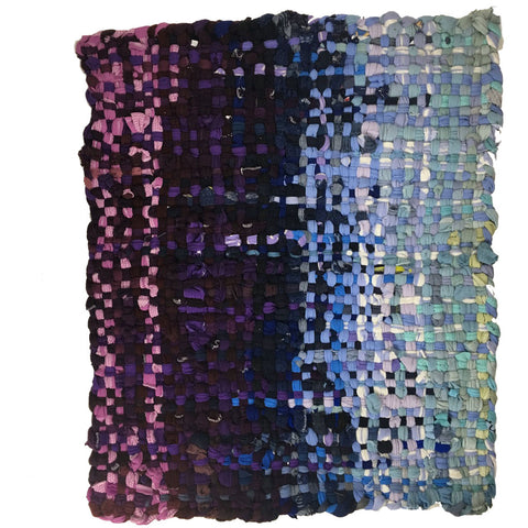 Potholder Rug - Purples with the Blues - 2.5x3.5ft