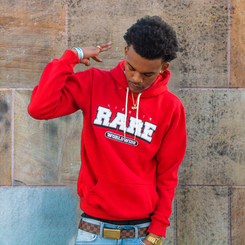 """Scarlet"" Life is Rare Worldwide Hoodie"