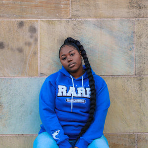 """Nipsey Blue"" Life is Rare Worldwide Hoodie"