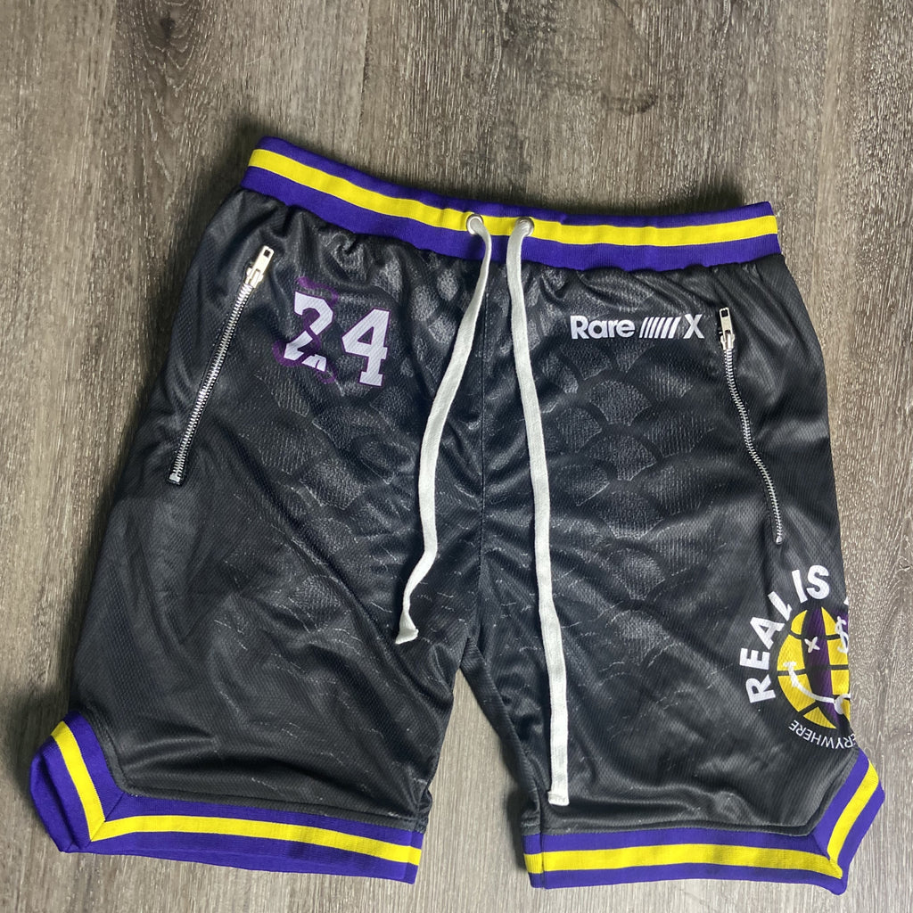 """Black Mamba"" Real is Rare Mesh Shorts"