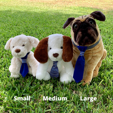 Load image into Gallery viewer, Medium Pet Tie - Blue Stripes