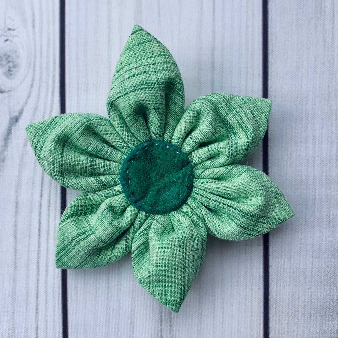 Handmade Flower - Green Brushstrokes