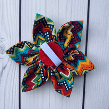 Load image into Gallery viewer, Handmade Flower - Multi-Colored Chevron