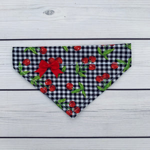 Pet Bandana - Cherry Gingham