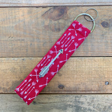 Load image into Gallery viewer, Handmade Wristlet Keychain - Red Arrows