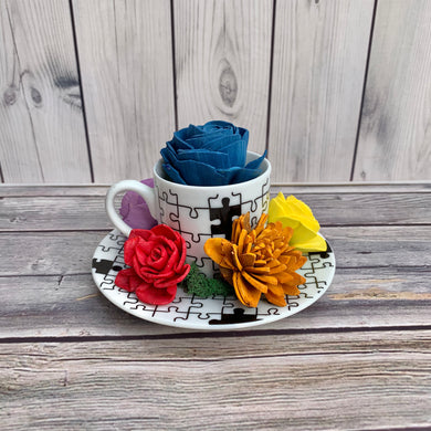 Autism Awareness Cup & Saucer