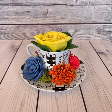 Autism Awareness Cup & Saucer 2