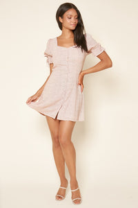 Pretty Polly Polka Dot Button Up Mini Dress