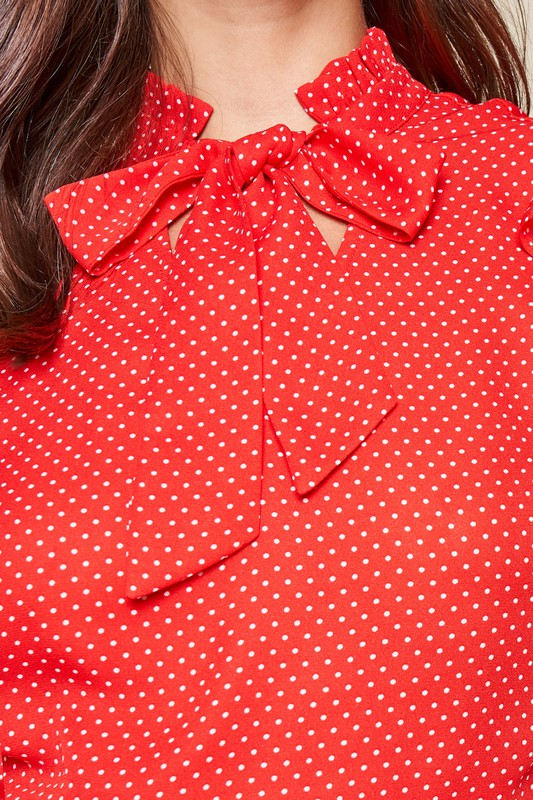 Joss Polka Dot High Neck Mini Dress