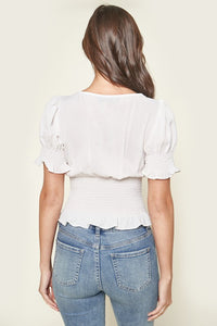 Hamel Short Sleeve Smocked Top