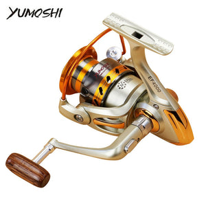 YUMOSHI EF 500-9000 Spinning Reel Left/Right 12BB Up 5.5:1 Ratio