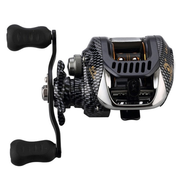 6.3:1 Baitcast Fishing Reel 13 Bearing Large Line Capacity Lightweight