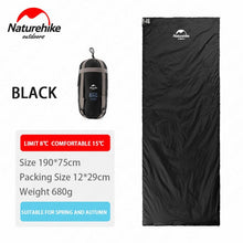 Load image into Gallery viewer, Naturehike 2 Persons Sleeping Bag Envelope Type Splicing Portable Outdoor Ultralight Sleeping Bag Spring Autumn Camping Hiking