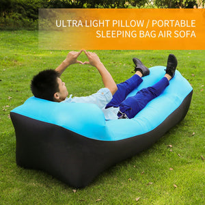 Hot Sale Fast Inflatable Sofa Bed Lazy Bag Sleeping Bag Portable Inflatable Air Camping Hiking Beach Sofa Bag Lounge Chair