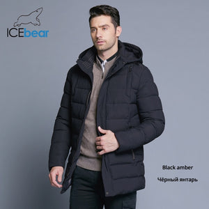 Mens Winter Coat with Detachable Hood